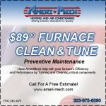 Coupon for $89 Furnace Clean & Tune